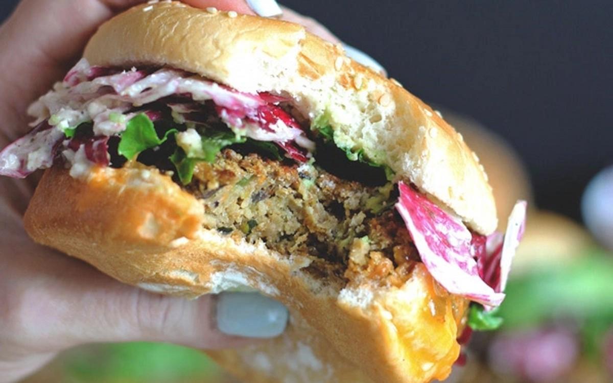 The Best Veggie 'Big Mac' With Radicchio Slaw