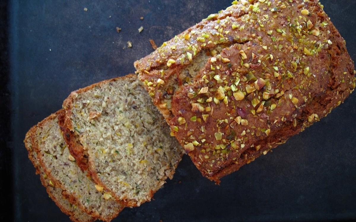 Grainy Quinoa, Brown Rice, and Almond Flour Zucchini Bread