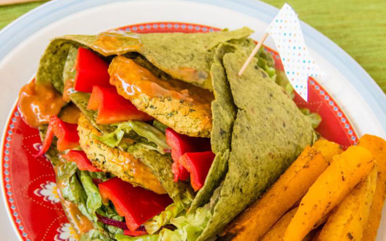 Red Lentil Burger Wraps