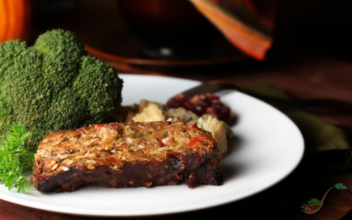 Roasted Vegetable Loaf With a Balsamic Glaze