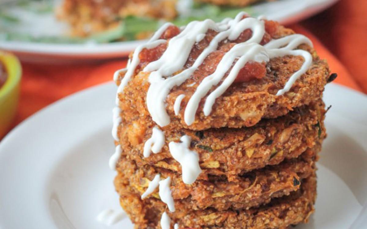 Baked Zucchini and Amaranth Patties