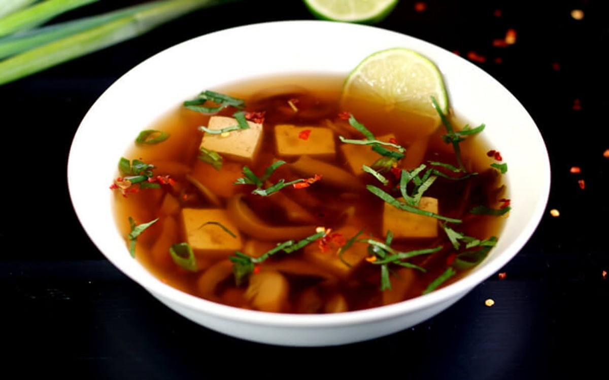 Shiitake and Tofu Tom Yum Soup