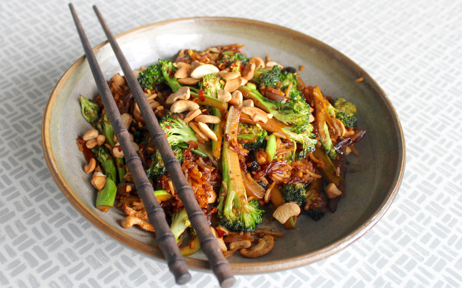 broccoli cashew fried rice