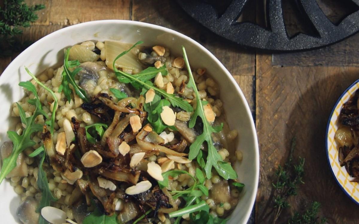 Mushroom Pearl Barley Risotto