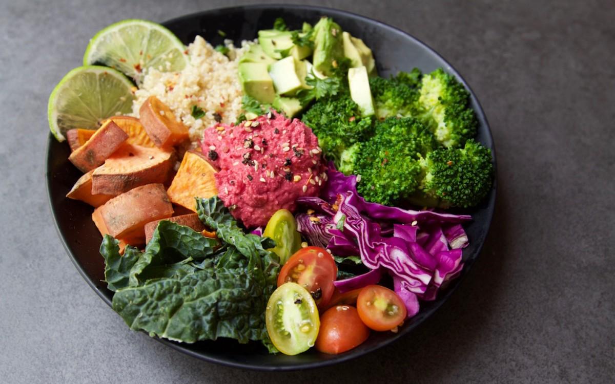 Nourish Bowl With Beet Hummus