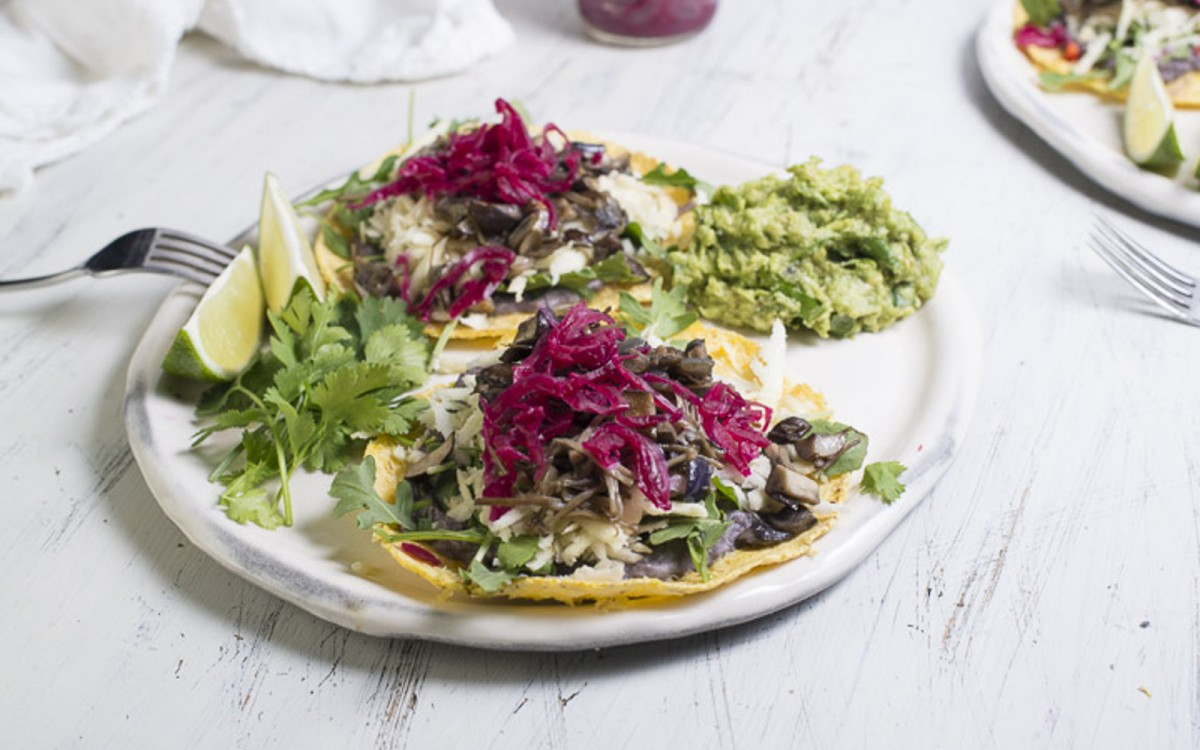 Parsnip Mushroom Tacos With Coriander Crema