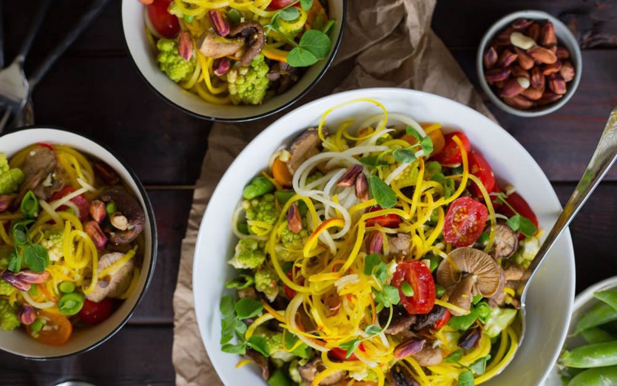 Spicy Golden Beet Noodles