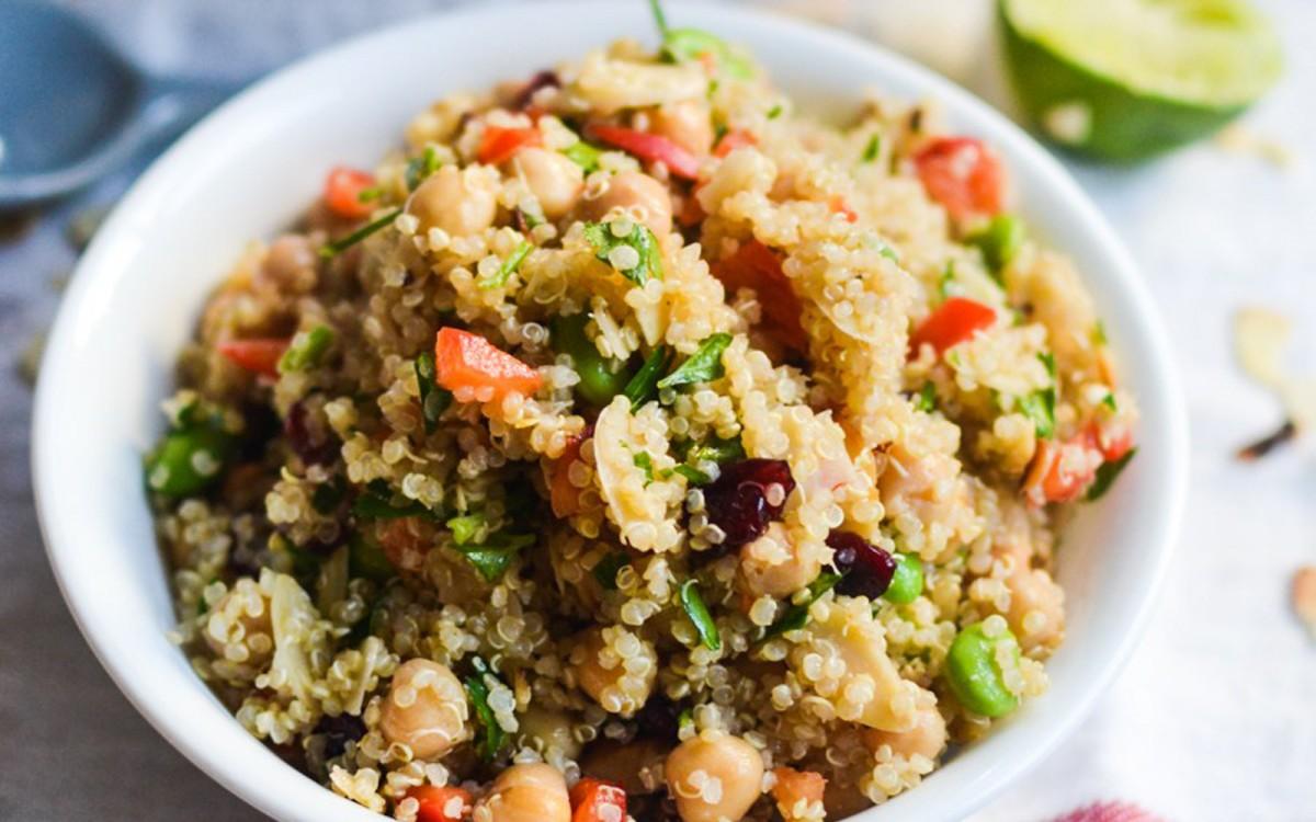Chickpea and Edamame Quinoa