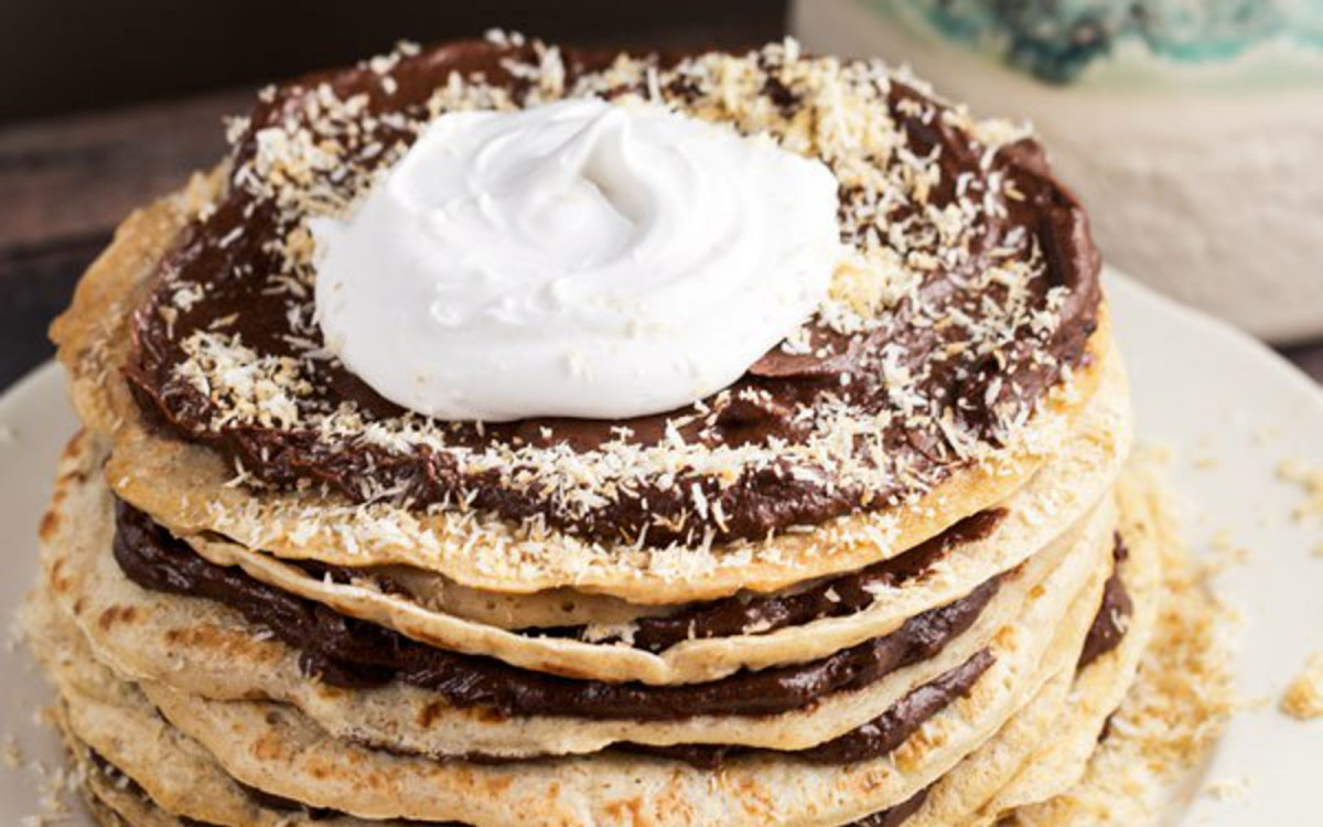 Whole Wheat Crepe Cake With Chocolate Mousse