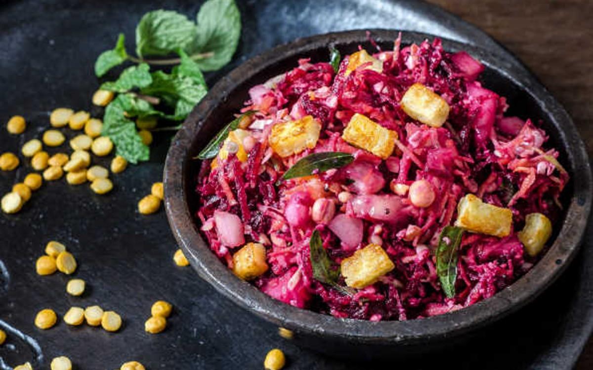 Channa Dal Kosambi: South Indian Lentil and Vegetable Salad