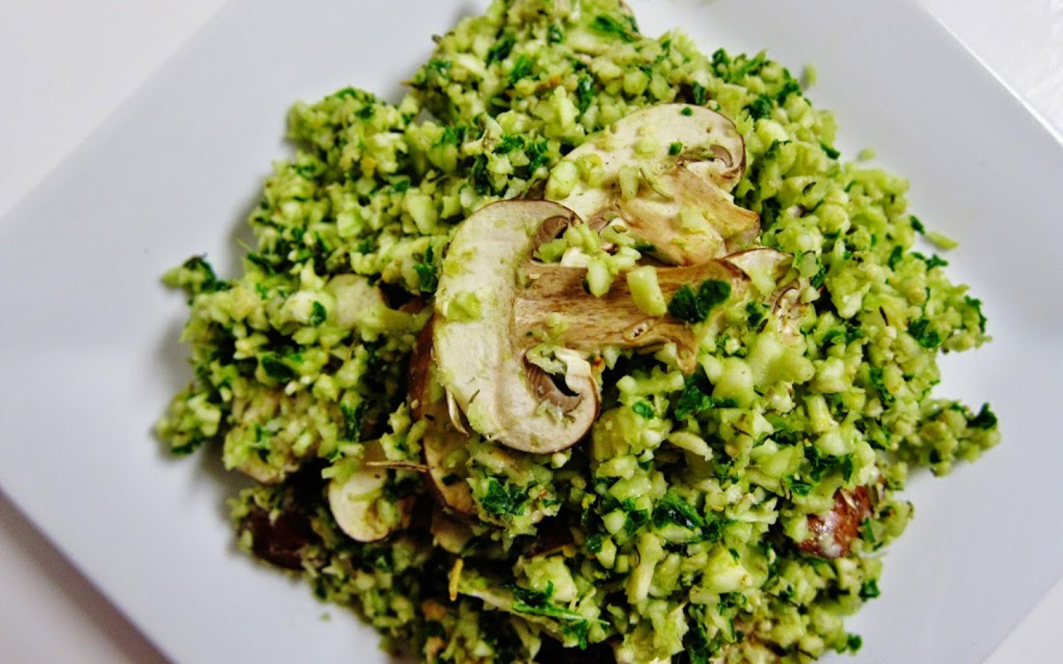 Raw Mushroom Kale Rice