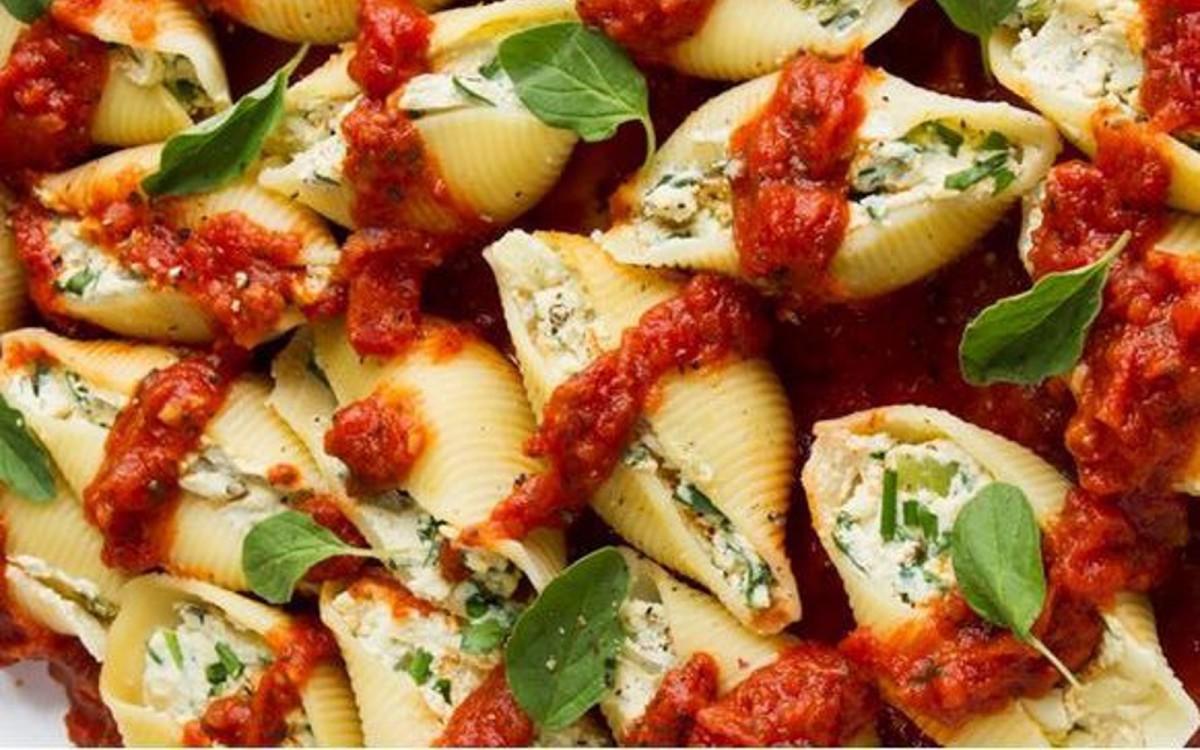 Ricotta Stuffed Pasta Shells