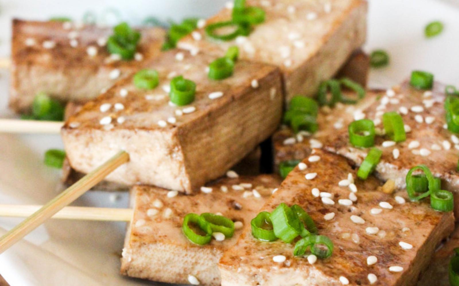 sesame ginger tofu skewers