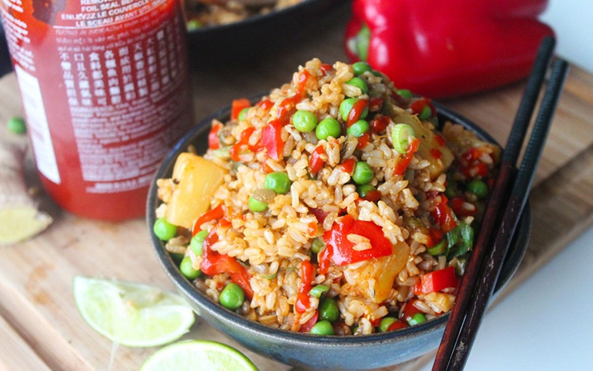 Sweet and Salty Pineapple Fried Rice