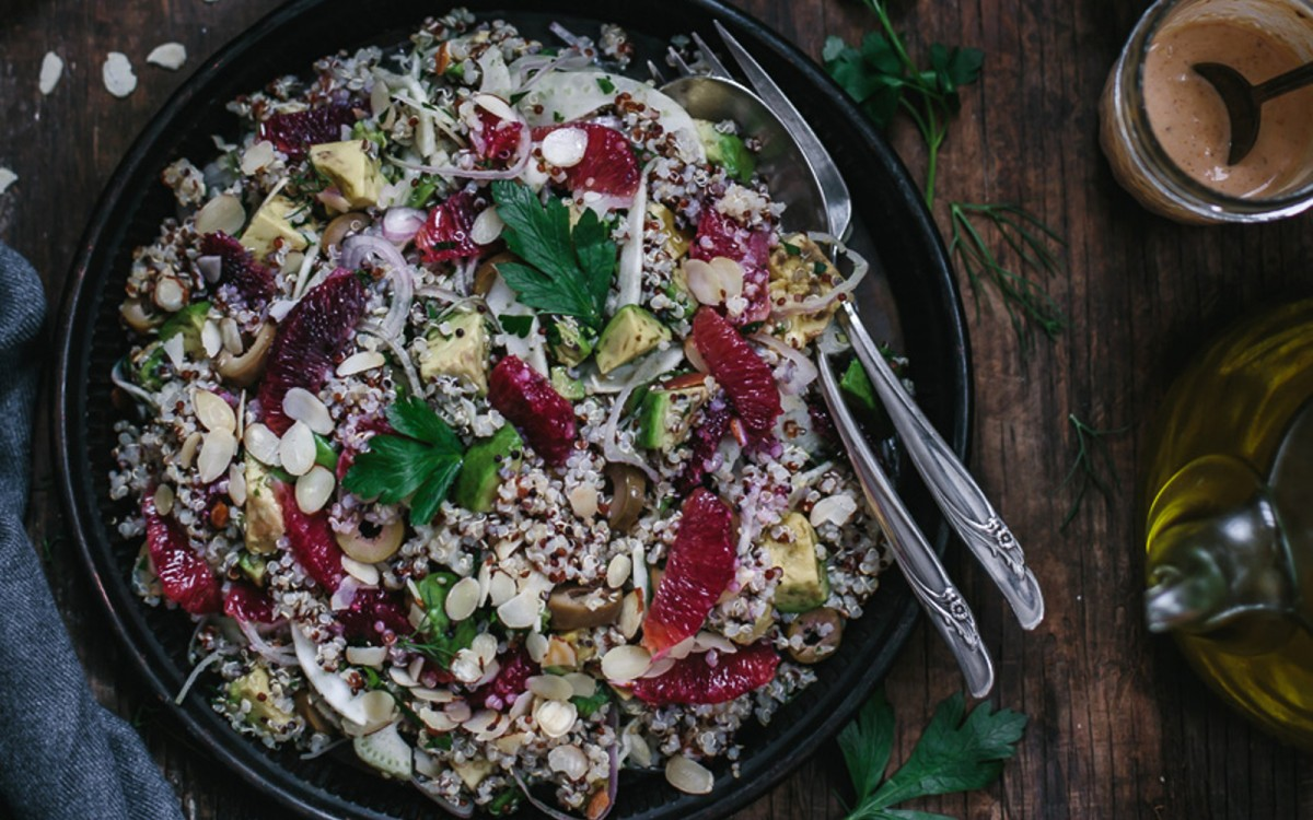 Avocado and Quinoa Salad With Blood Orange and Fennel