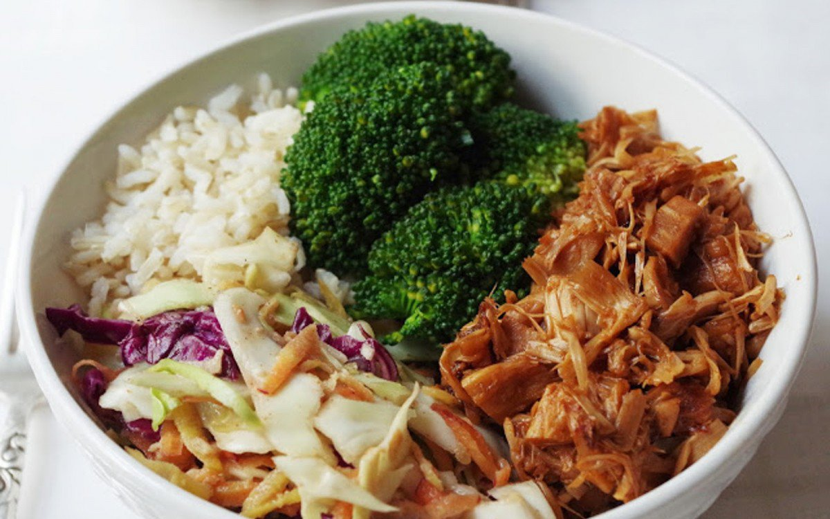 Barbecue Pulled Jackfruit Bowl