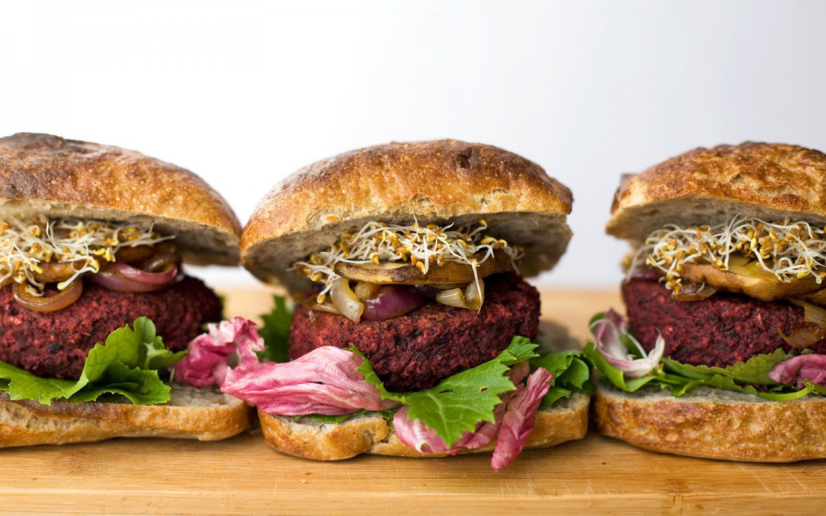 Beet and Black Bean Burgers