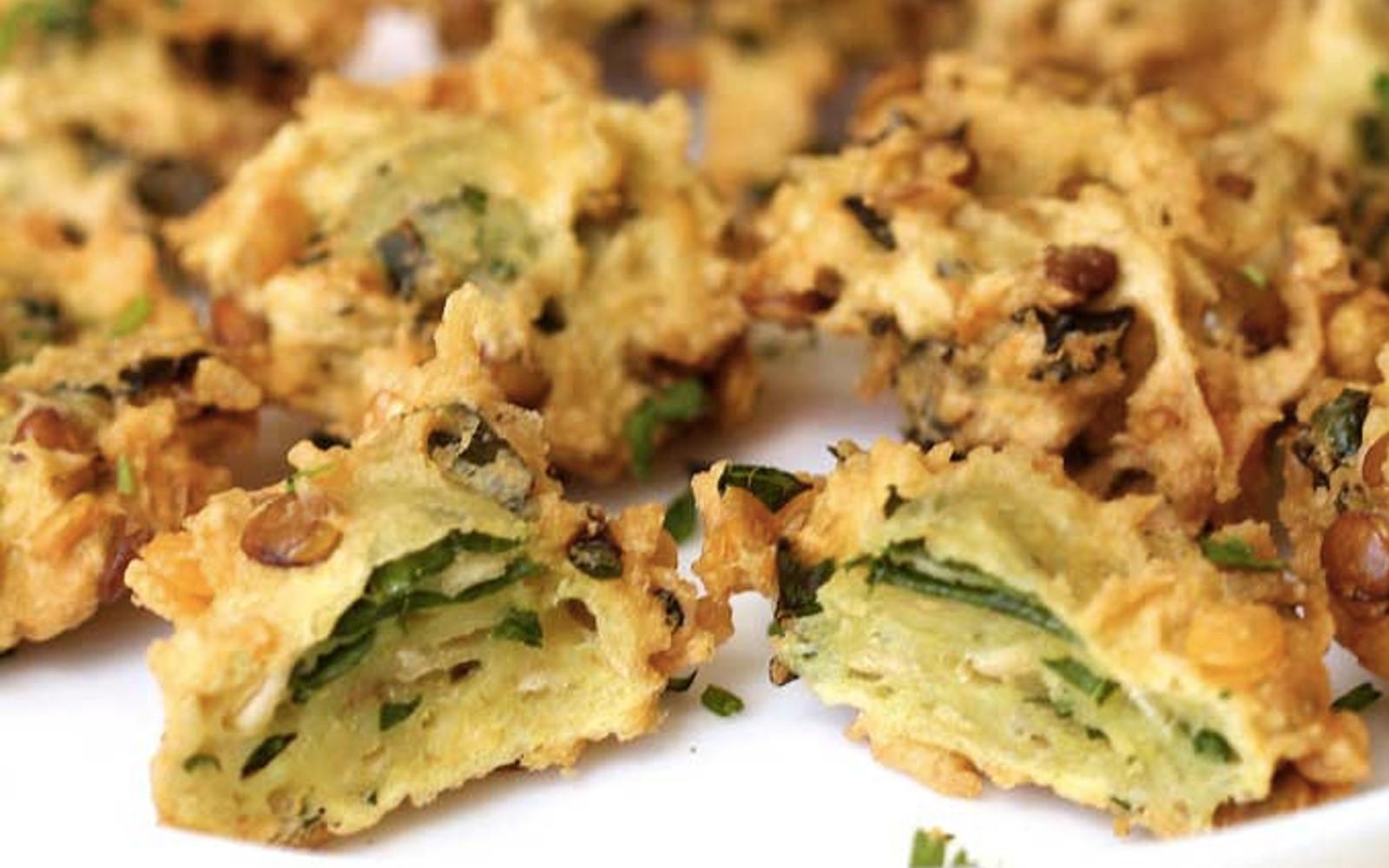 kale lentil fritters
