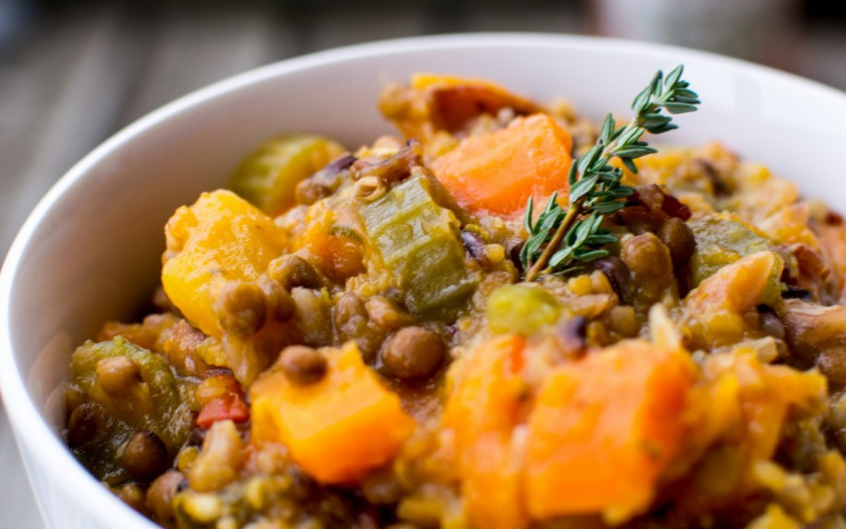 Mixed Herb Lentil and Wild Rice Soup 4