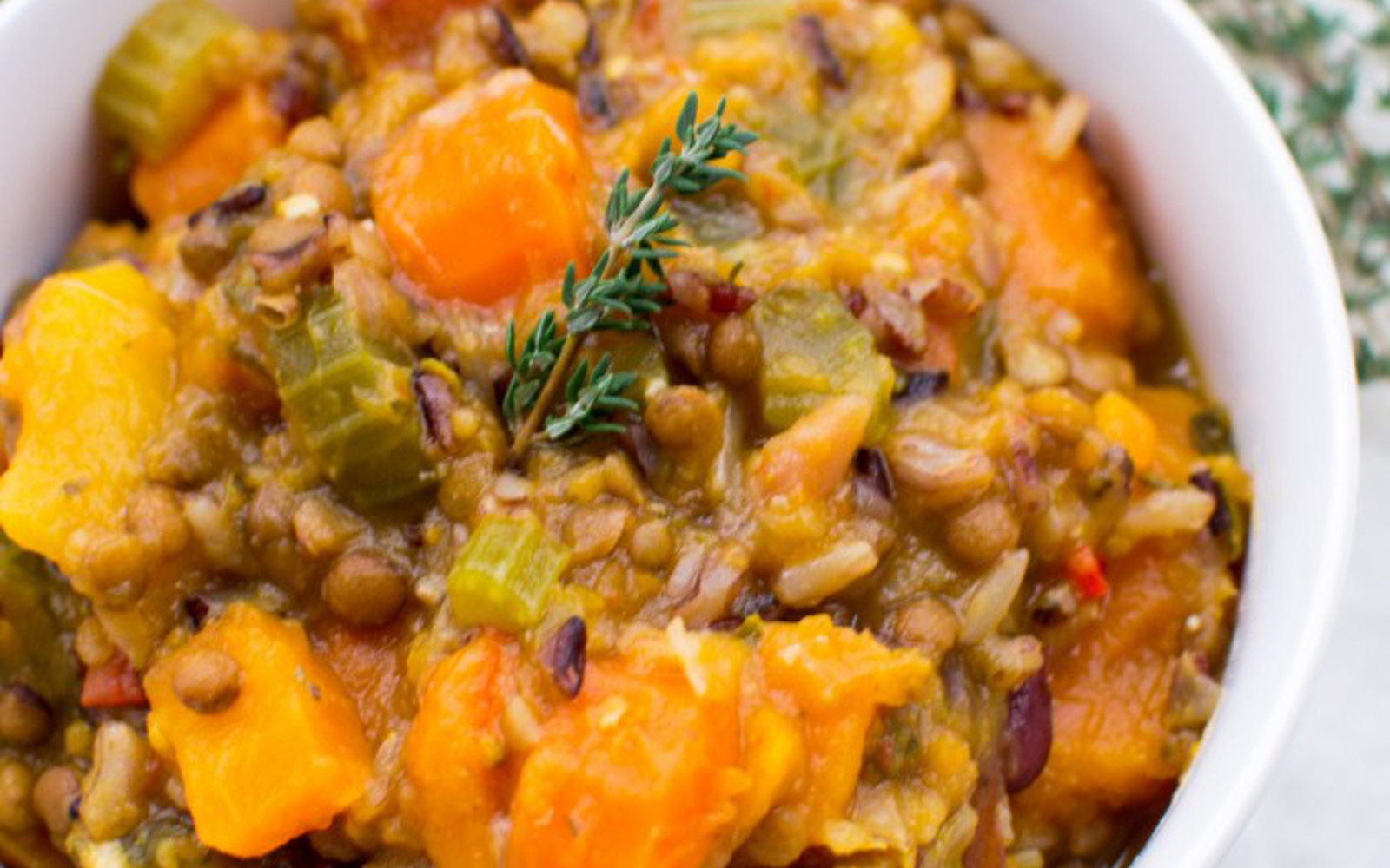 Mixed Herb Lentil and Wild Rice Soup 5