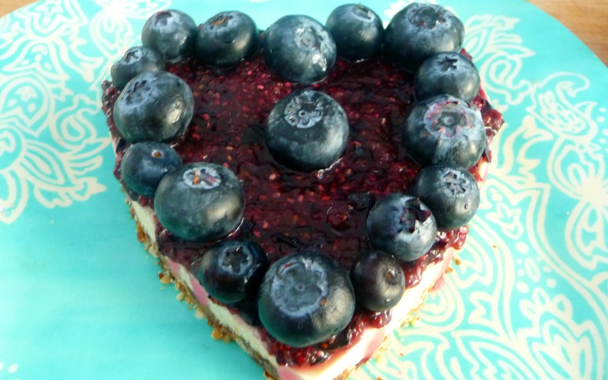 No-Bake Blueberry Cheesecake 1