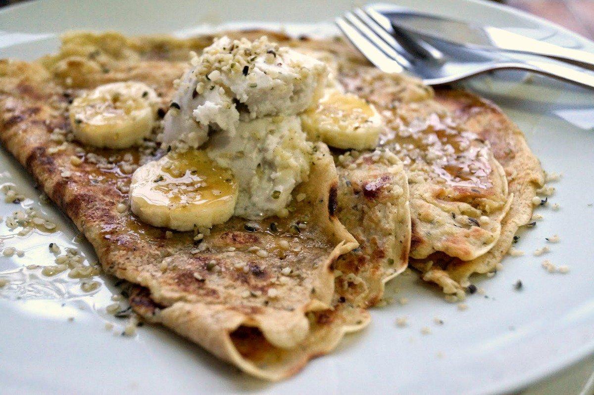 Protein Packed Hemp Breakfast Crepes