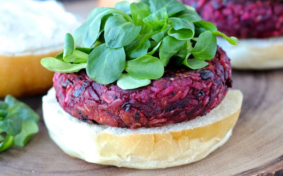 Smoky Black Bean and Beet Burgers