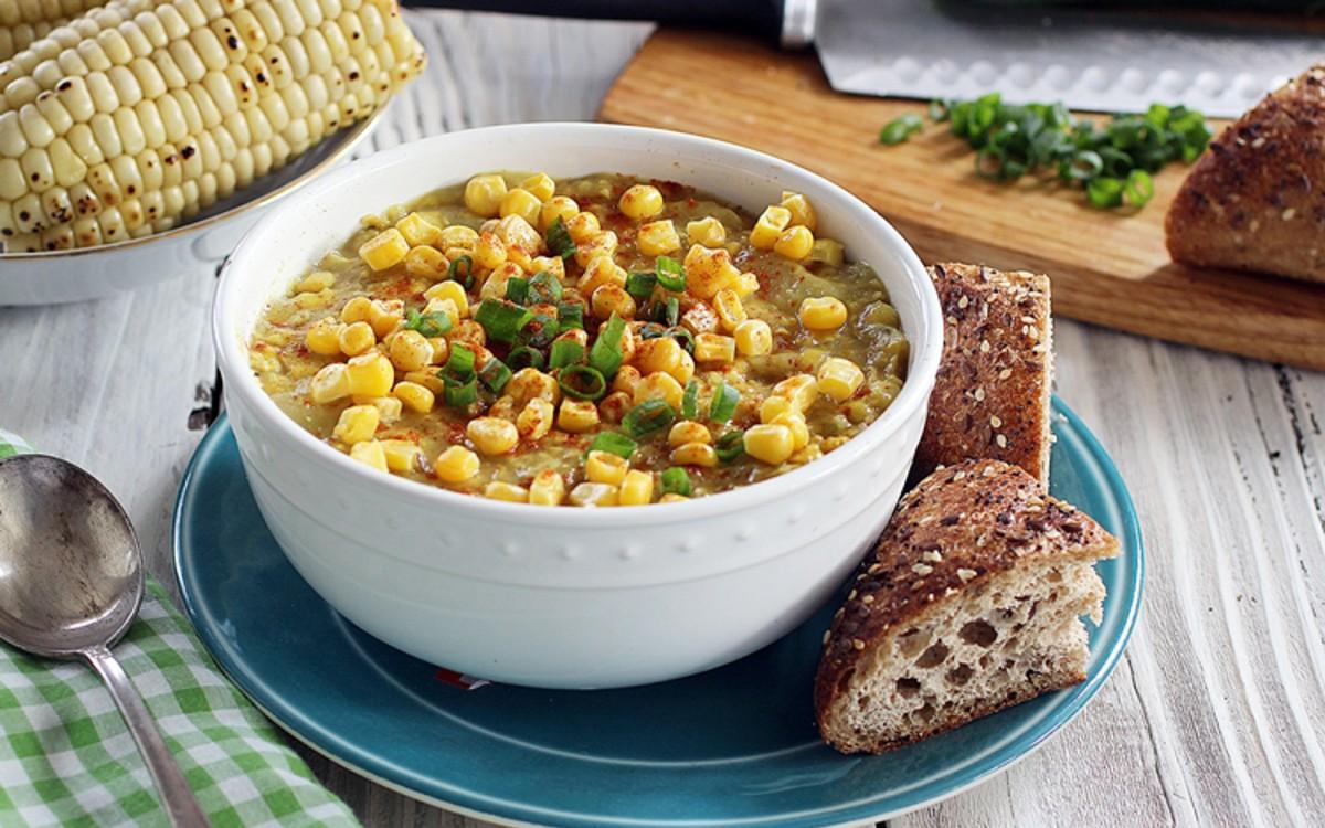 Smoky Corn and Potato Chowder