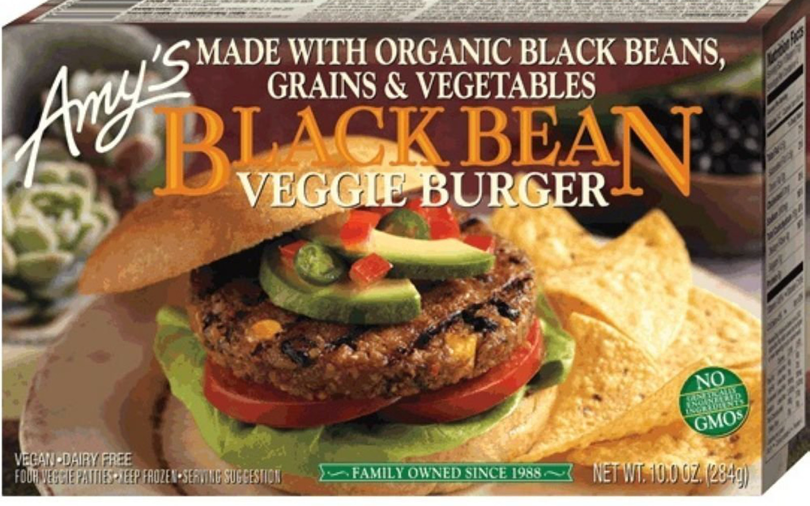 Amy's Black Bean Burger