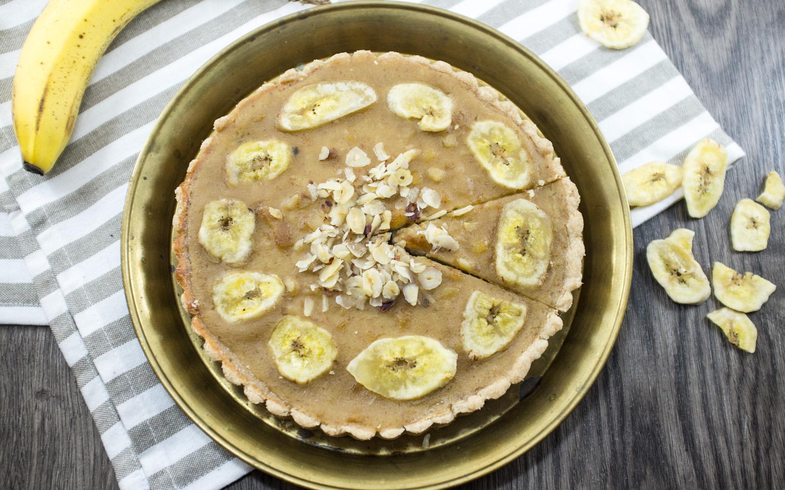 Banana date toffee tart
