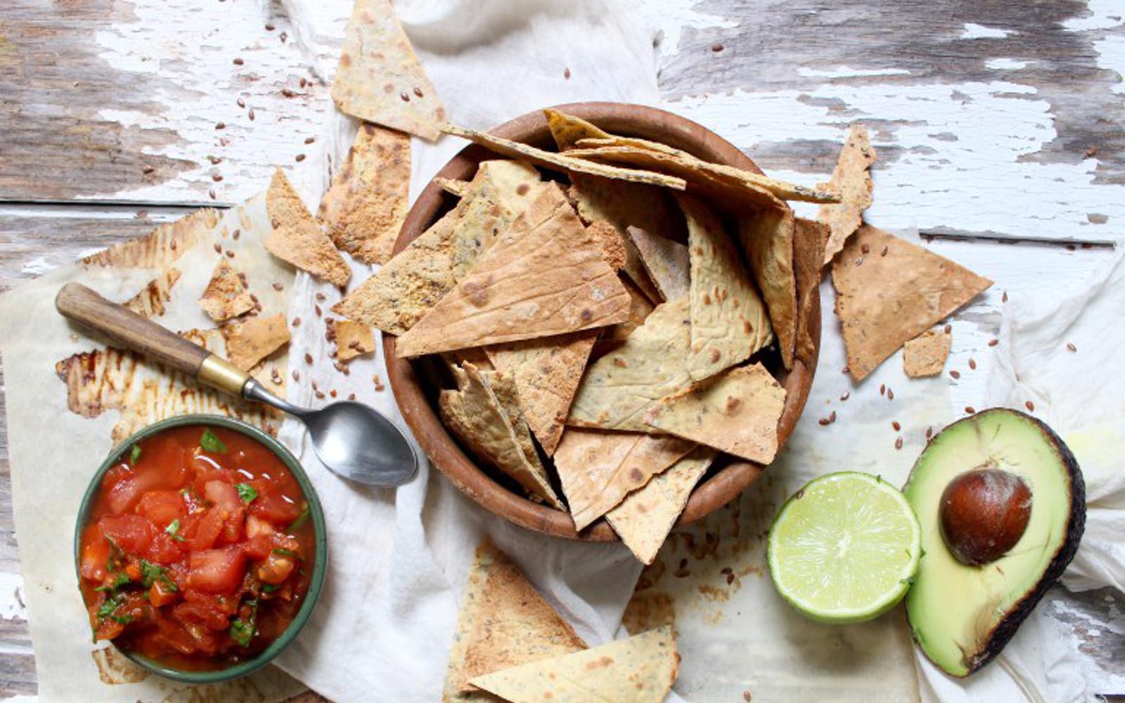 quinoa flax nachos