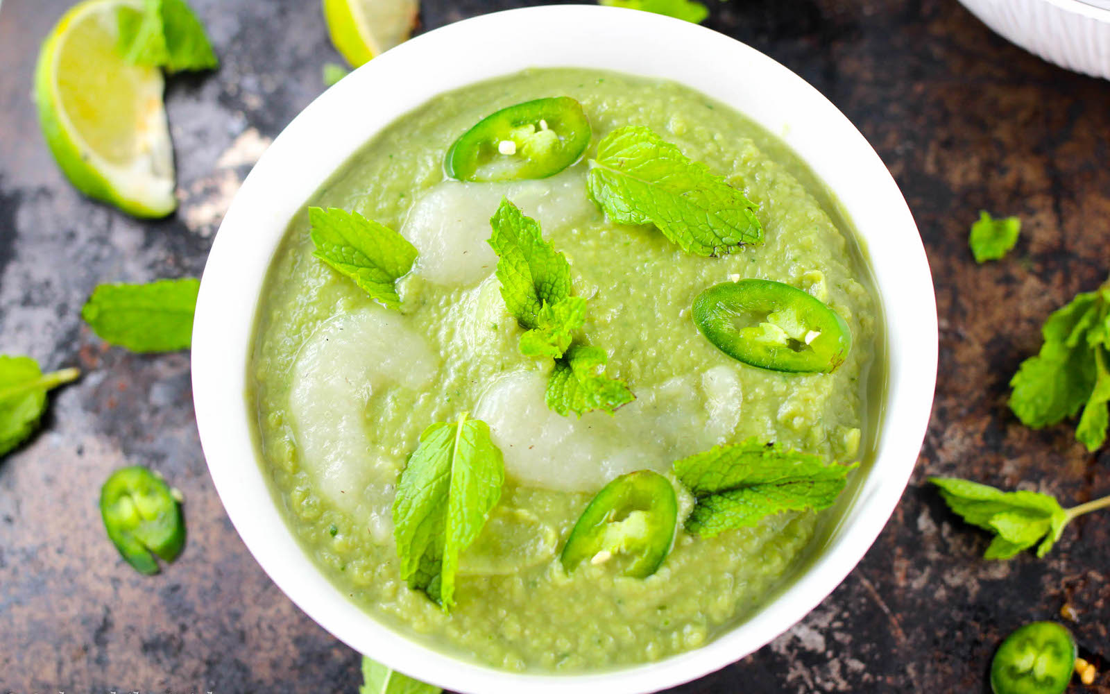Serrano Pepper and Sweet Pea Soup