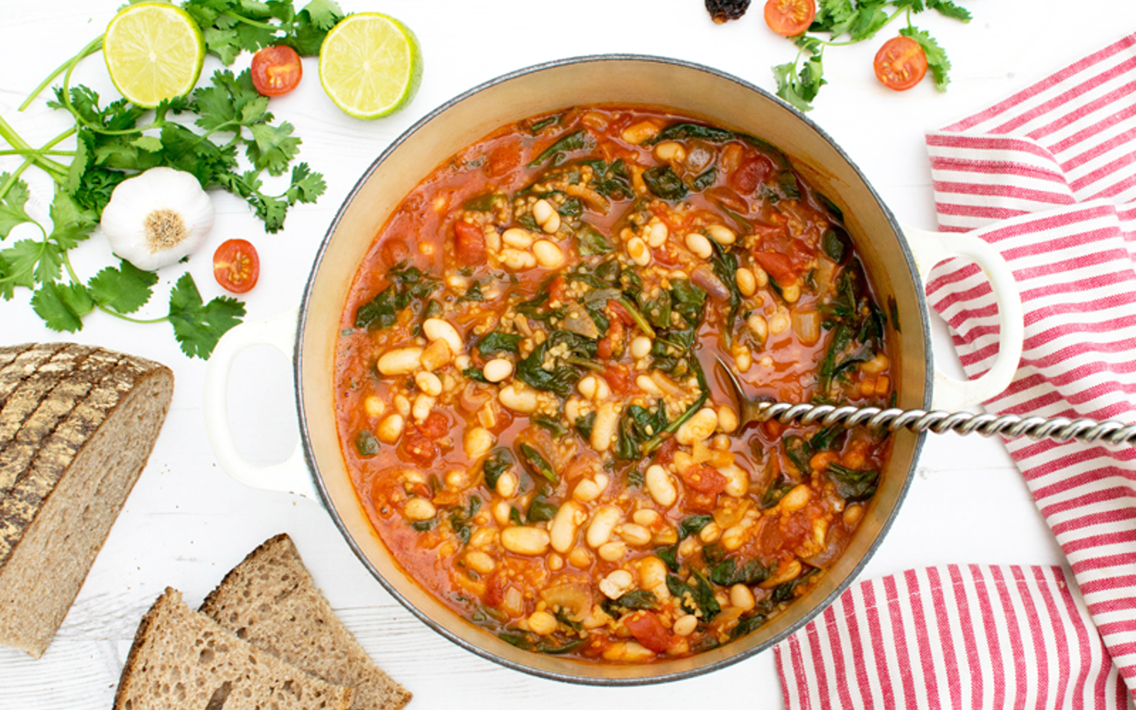 spinach and bean chipotle casserole