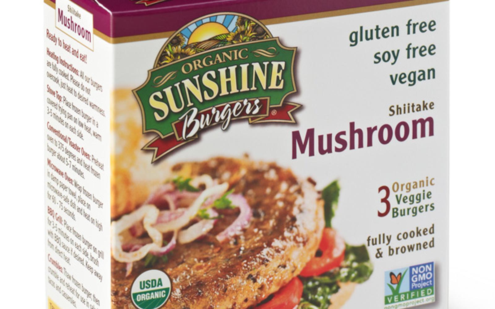 Sunshine Burger Shiitake Mushroom Burger
