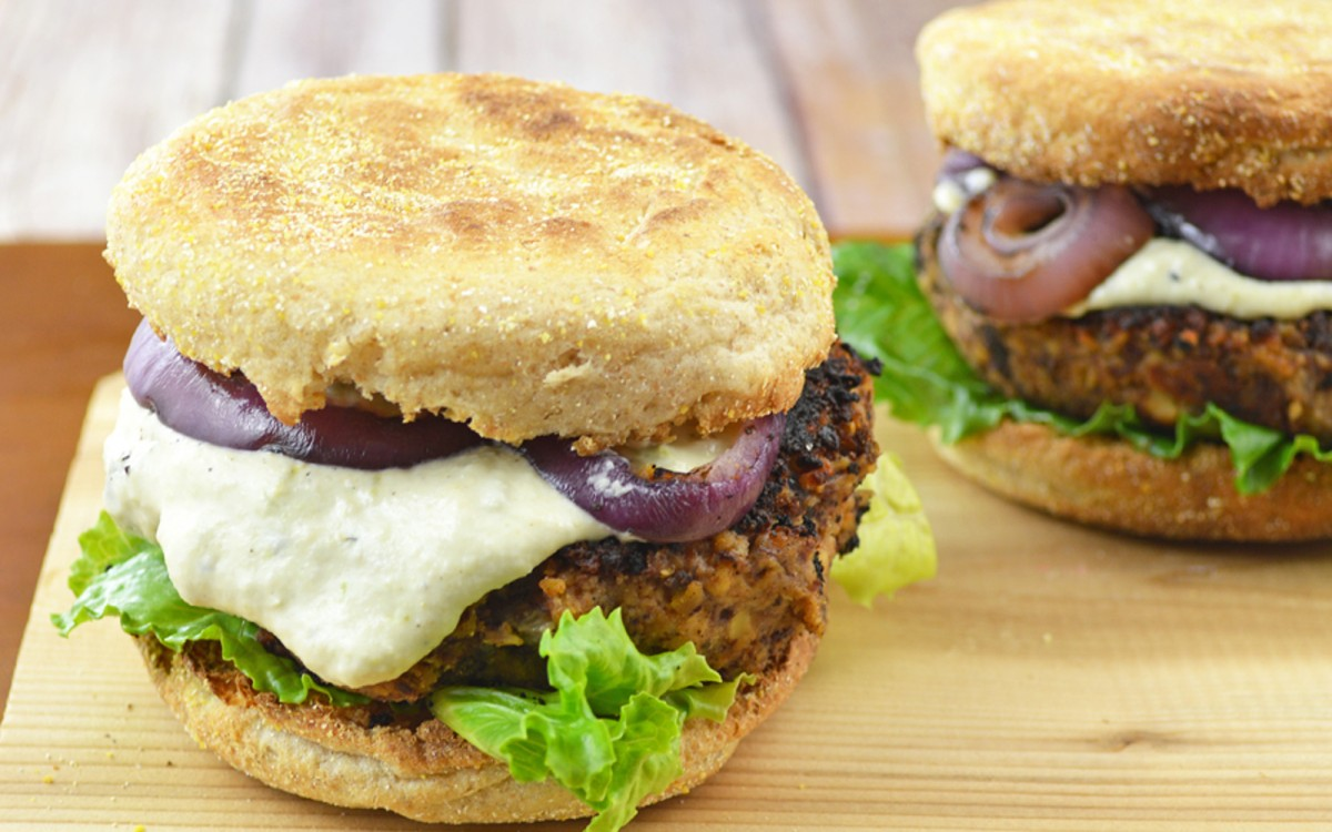 Tempeh and Black Bean Burger 1
