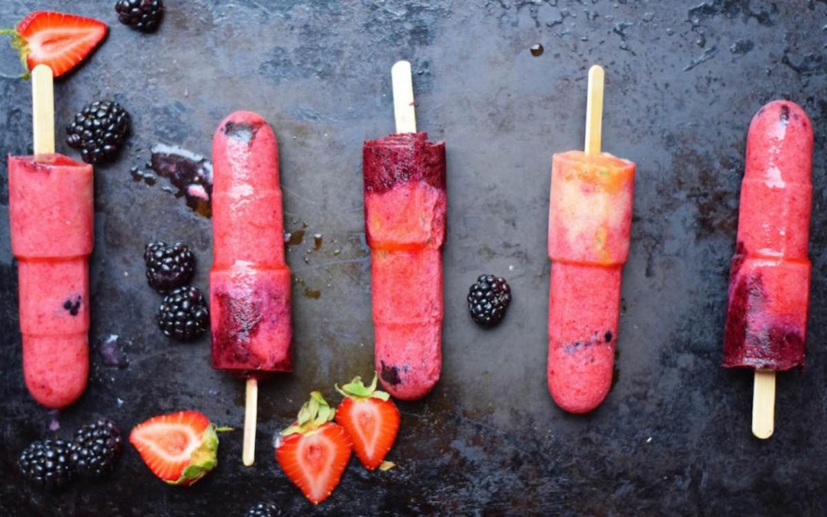 Blueberry Raspberry Popsicles 3