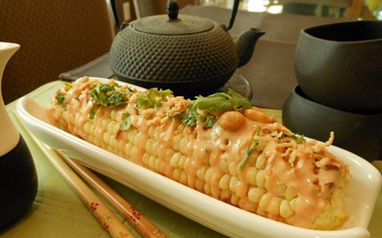thai charred corn on the cob