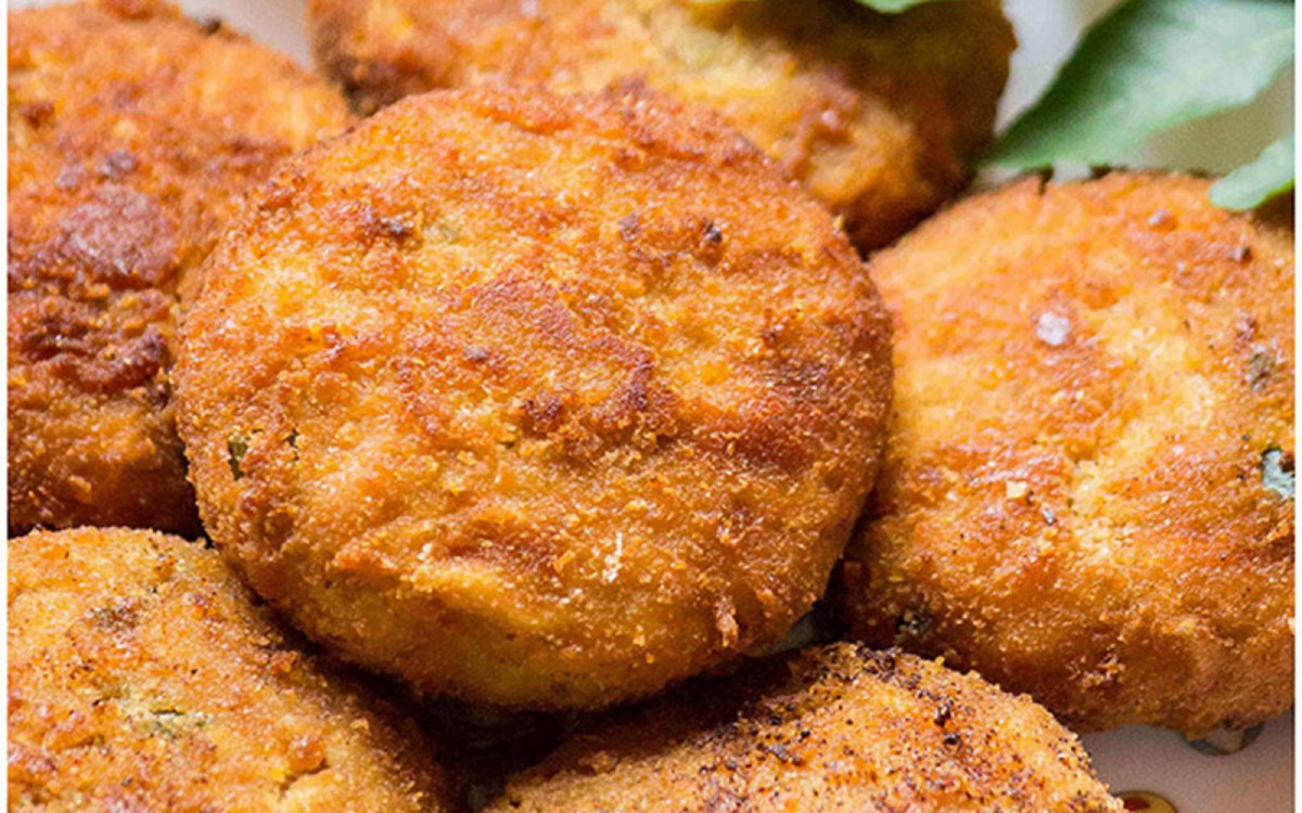 breaded jackfruit cutlet