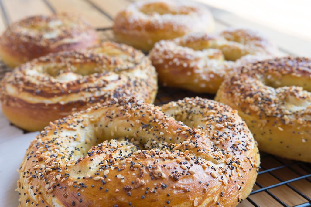 everything bagel soft pretzels
