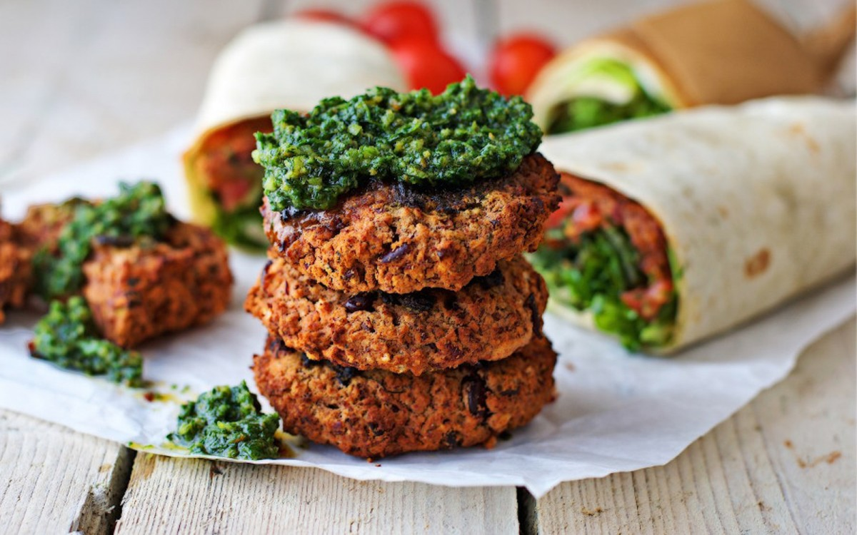 Red Bean Patties With Chermoula