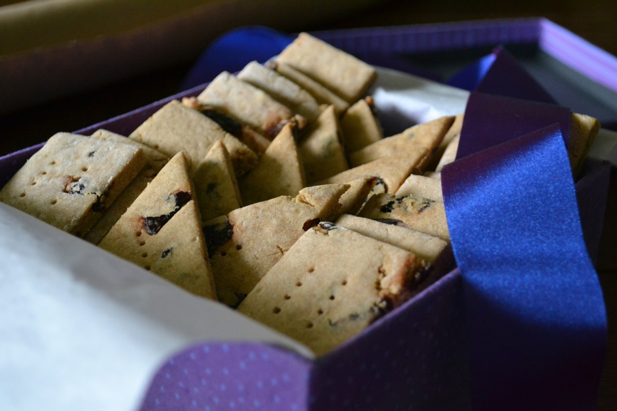 peanut butter and jelly shortbread