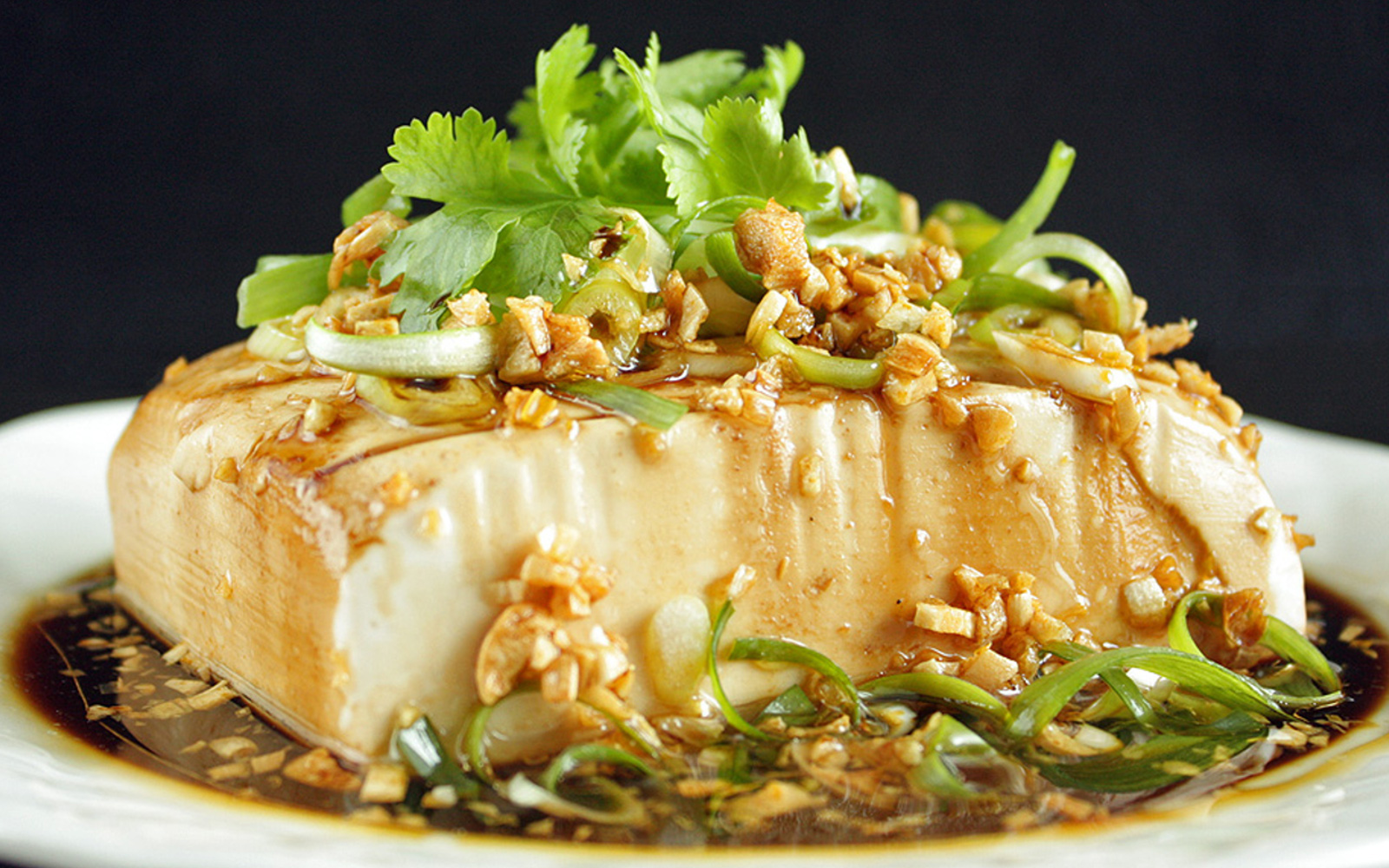 chinese steamed tofu