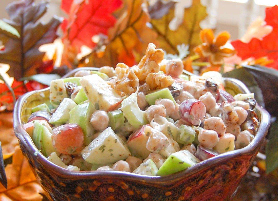 chickpea waldorf salad