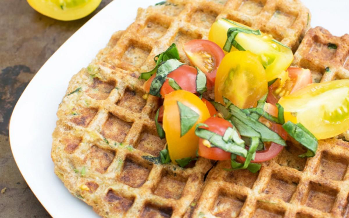 Einkorn Zucchini Waffles