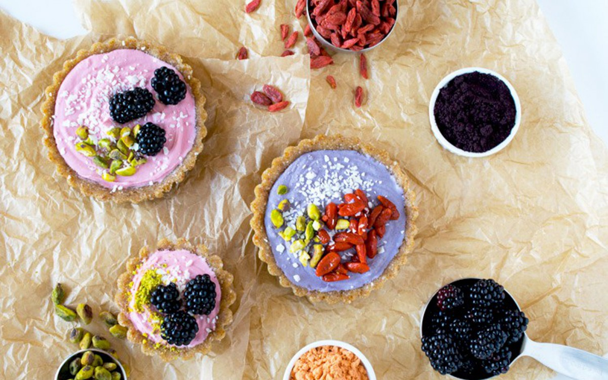 Goji and Maqui Berry Cream Tarts 1
