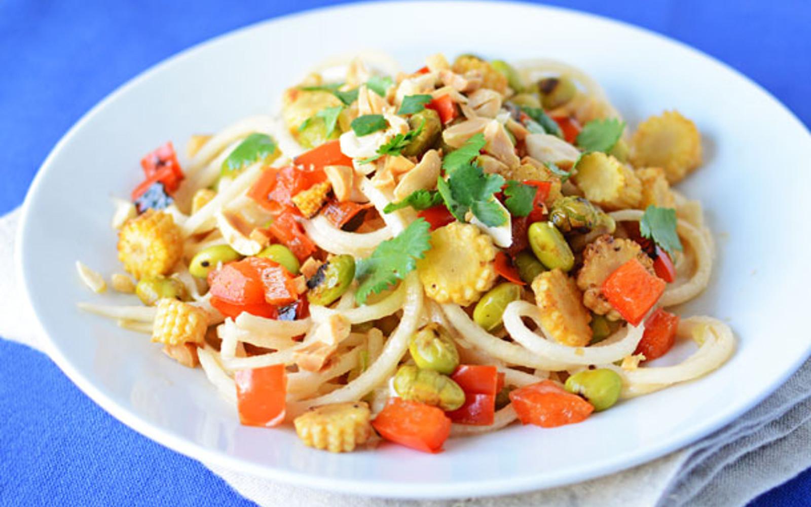 peanut and daikon noodle radish salad