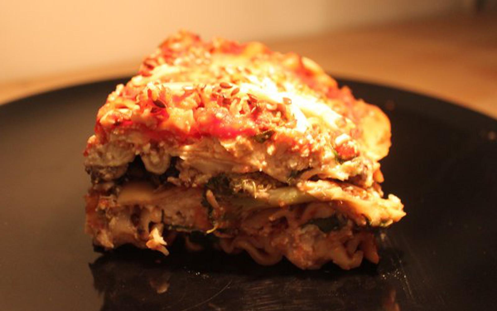 tofu mushroom lasagna