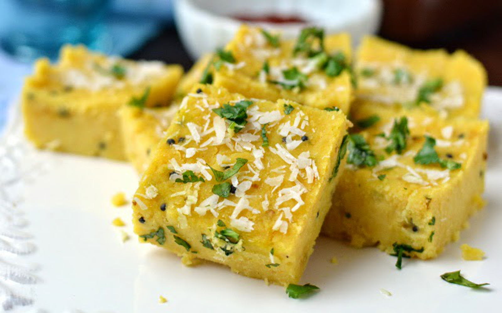 north indian chickpea squares