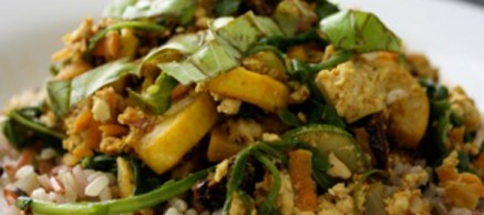 summertime scramble vegan recipe