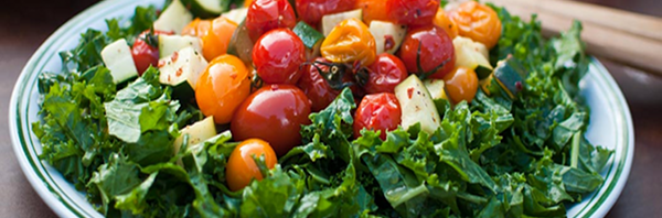 Kale and Grilled Tomato Salad